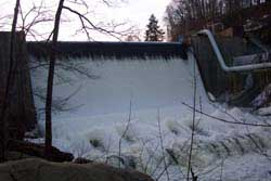 Dam on the Cuyahoga River in Gorge Metropark.
